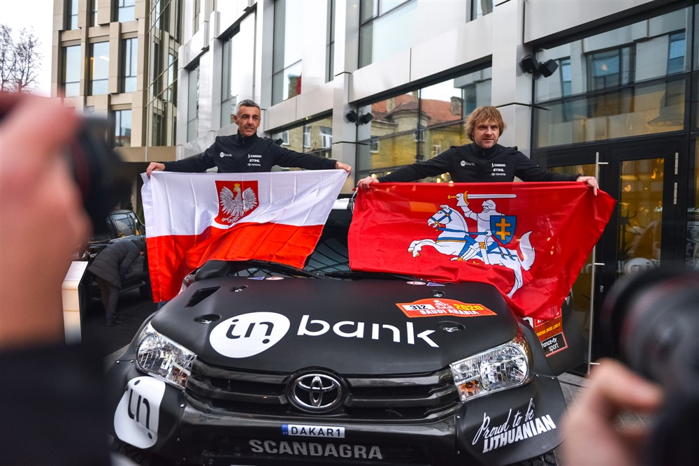 Sebastian Rozwadowski and Benediktas Vanagas - photo by Inbank team Pitlane
